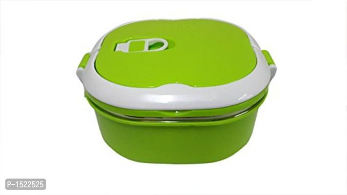Stainless Steel Square Lunch Box, 750ml, Green