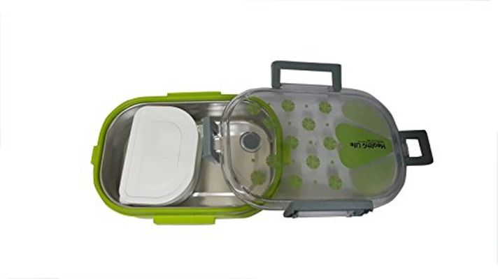 Stainless Steel Lunch Box, 710ml, Green