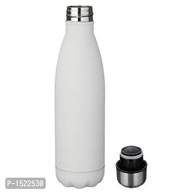 Stainless Steel Water Bottle, White