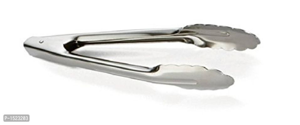 Stainless Steel Utility Tong Set, Set of 6, Silver