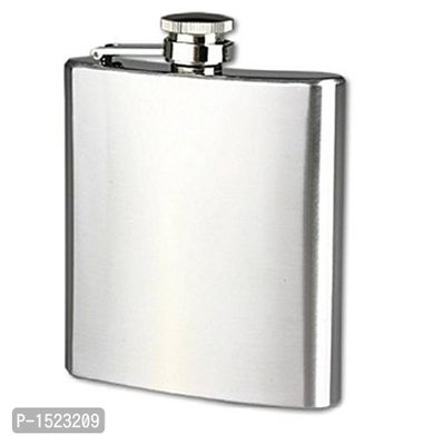 Stainless Steel Hip Flask, Silver