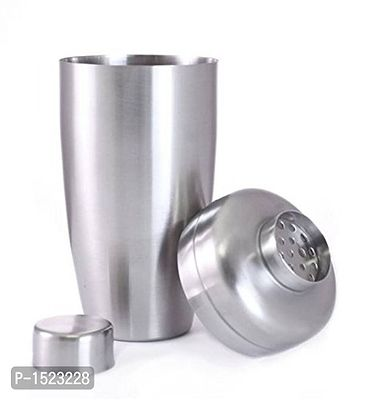 Stainless Steel Cocktail Shaker, 600ml, Silver