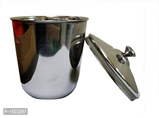 Stainless Steel Ice Bucket Set, 2-Pieces, Silver