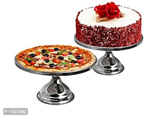 Stainless Steel Cake Stand, Silver