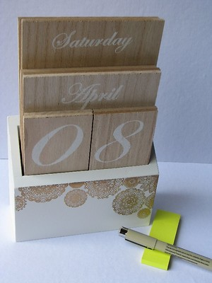 Decorative Calendar - Wood