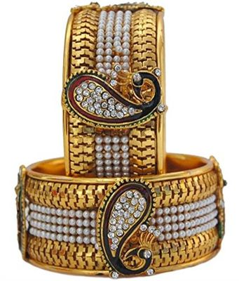 Dancing Peacock Gold Plated Cuff Bracelet