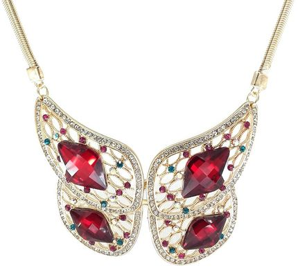Stylish Butterfly Shaped Statement Jewellery Necklace