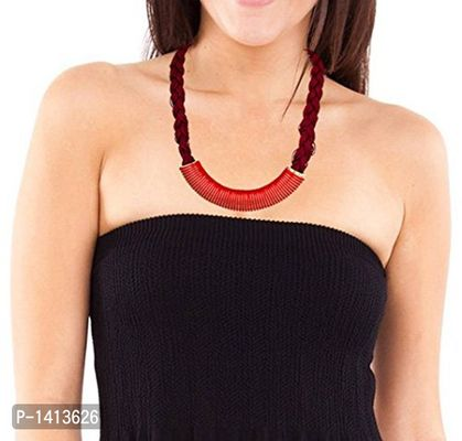 Gracias Collection Jewellery Designer Red Thread Statement Necklace