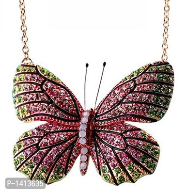 Social Butterfly Statement Necklace