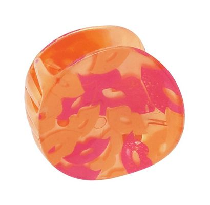 Orange Designer Round Hair Clutcher
