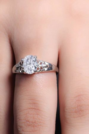 Oval Shaped Crystal Ring