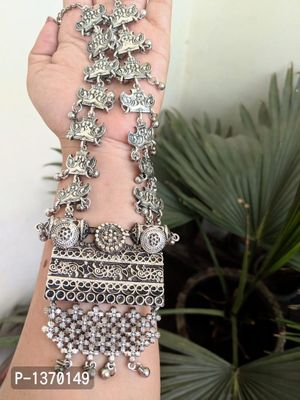Indian Jewelry  Traditional Jewellery High Quality German Silver Necklace