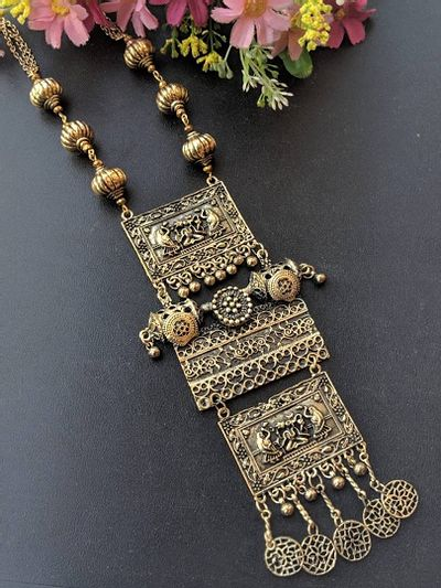 Beautiful afghnai long necklace with long pendant