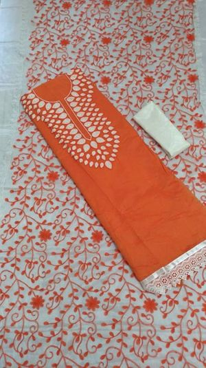 Change stitched work Dress material