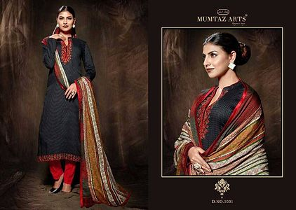 Top satin cotton bottom cotton dupatta mulmul