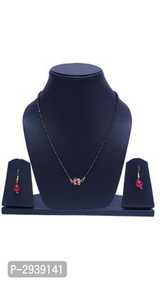 Red Beaded Mangalsutra Set
