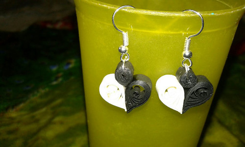 Kids Special : Heart Shaped Quilling Earrings