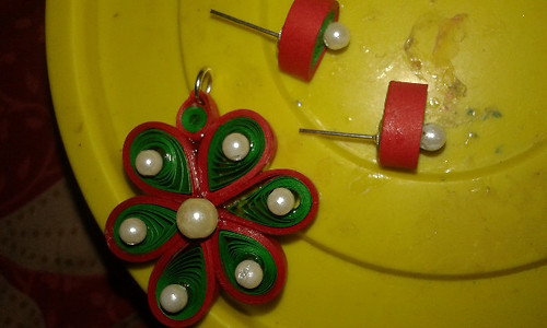 Kids Special : Flower Pendant Set with Tiny Studs