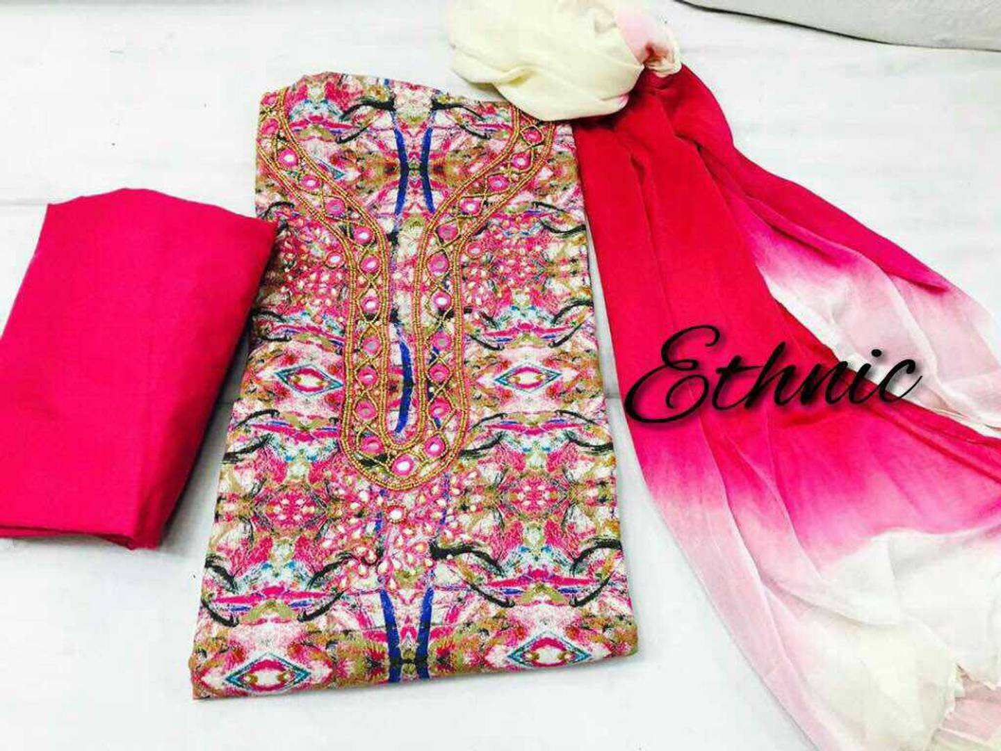 Chudi Material Handwork On Soft Cotton Top Mirror Revathi Chennai For Sale Looking For Resellers