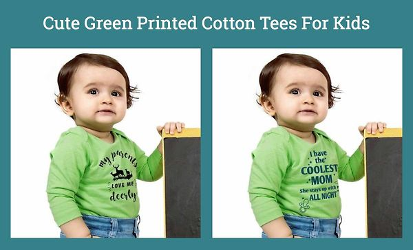 cute-green-printed-cotton-tees-for-kids