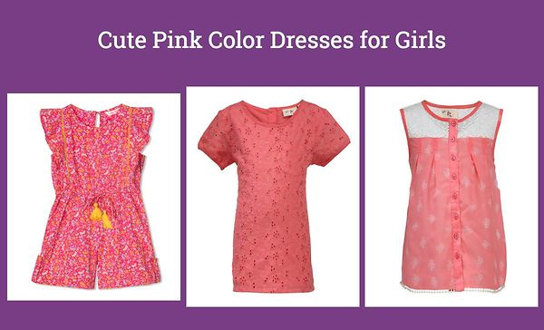 cute-pink-color-dresses-for-girls