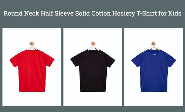 round-neck-half-sleeve-solid-cotton-hosiery-t-shirt-for-kids