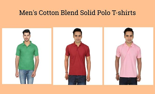 men-s-cotton-blend-solid-polo-t-shirts