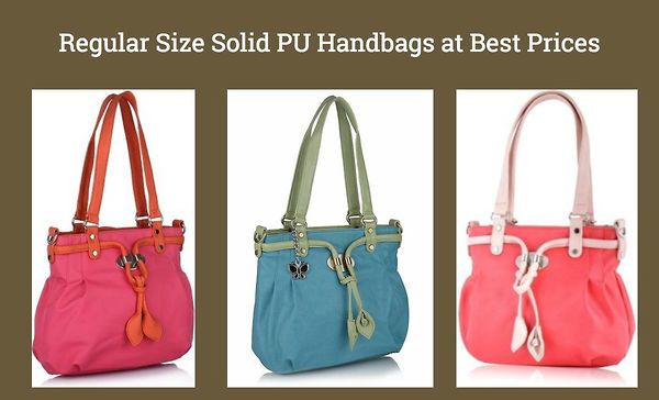 regular-size-solid-pu-handbags-at-best-prices