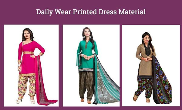 Daily Wear Printed Dress Material