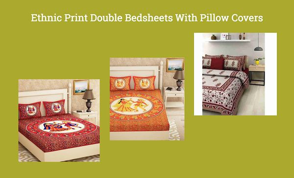 ethnic-print-double-bedsheets-with-pillow-covers