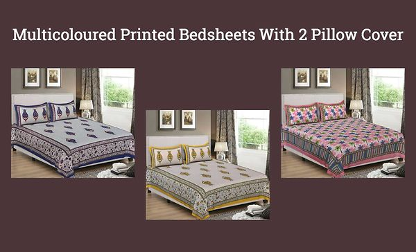 multicoloured-printed-bedsheets-with-2-pillow-cover