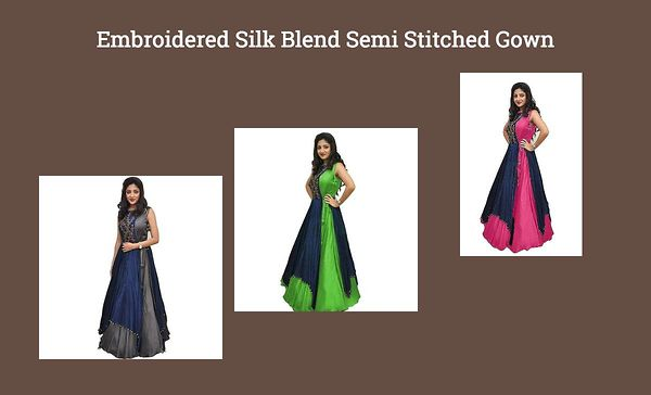embroidered-silk-blend-semi-stitched-gown