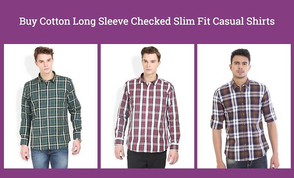 buy-cotton-long-sleeve-checked-slim-fit-casual-shirts