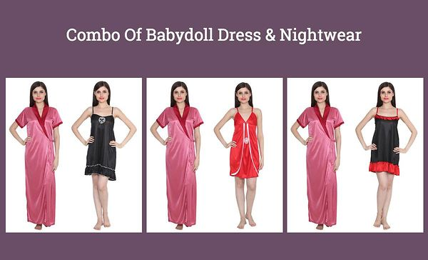 combo-of-babydoll-dress-nightwear