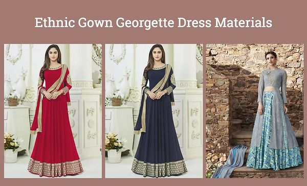 Ethnic Gown Georgette Dress Materials