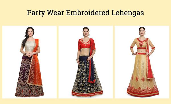 party-wear-embroidered-lehengas