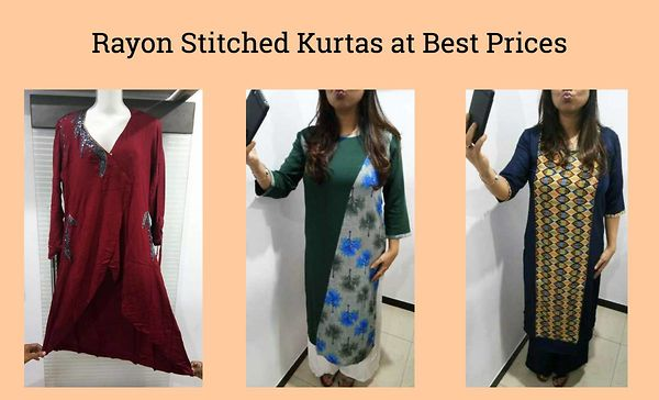 rayon-stitched-kurtas-at-best-prices