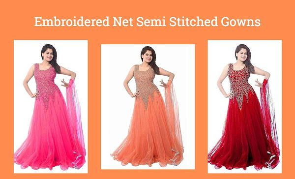 embroidered-net-semi-stitched-gowns