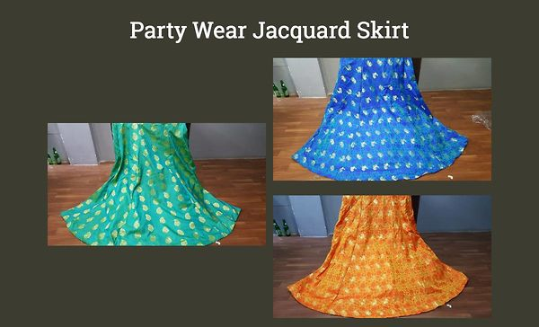 party-wear-jacquard-skirt