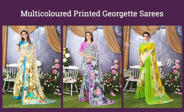 multicoloured-printed-georgette-sarees