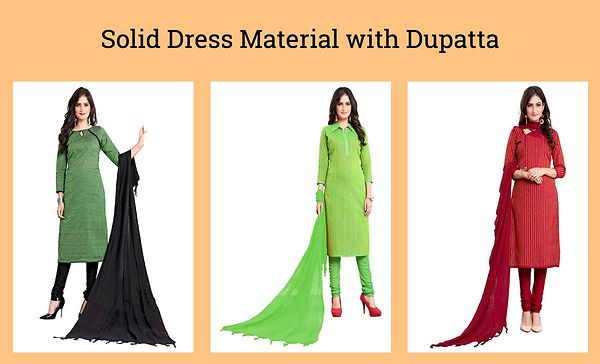 solid-dress-material-with-dupatta