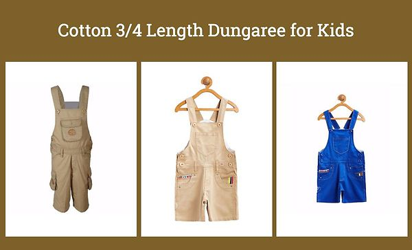 cotton-3-4-length-dungaree-for-kids