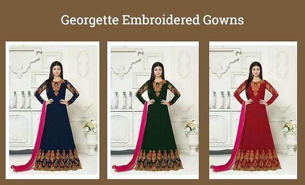 georgette-embroidered-gowns