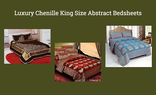 luxury-chenille-king-size-abstract-bedsheets