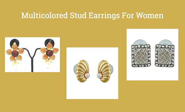 multicolored-stud-earrings-for-women