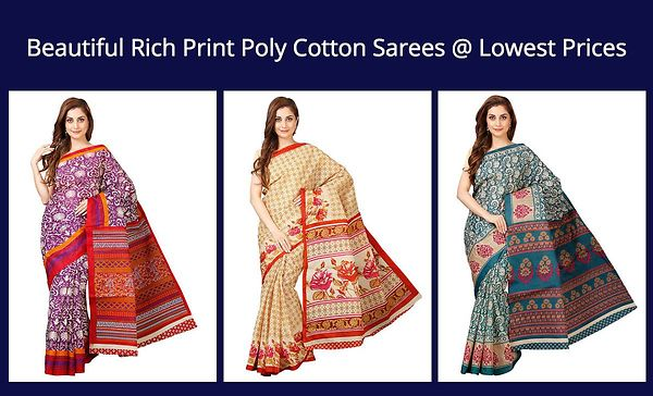 beautiful-rich-print-poly-cotton-sarees-lowest-prices