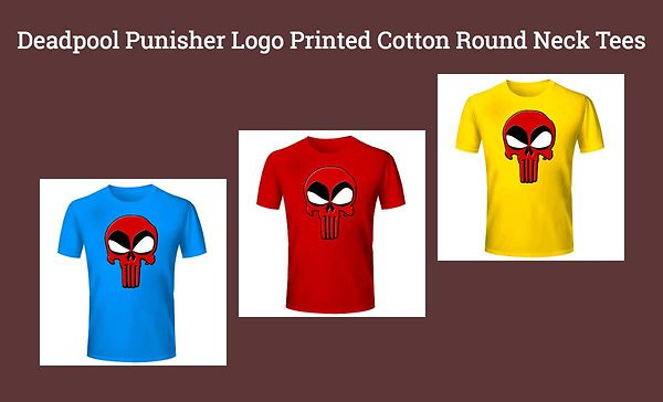 deadpool-punisher-logo-printed-cotton-round-neck-tees