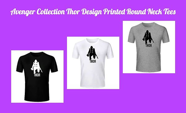 avenger-collection-thor-design-printed-round-neck-tees