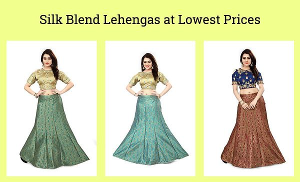 silk-blend-lehengas-at-lowest-prices
