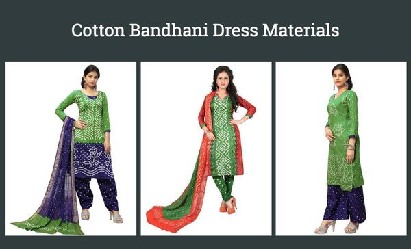 cotton-bandhani-dress-materials